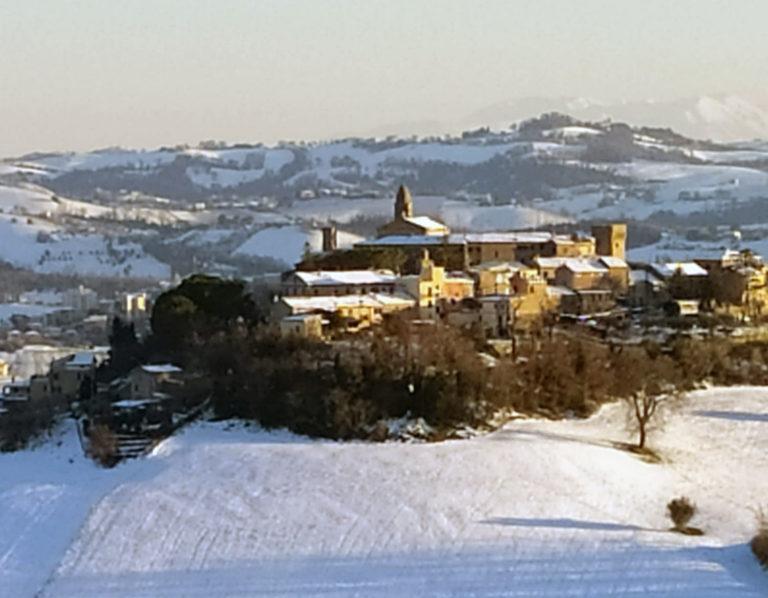 Nevicata del 13 febbraio a Magliano