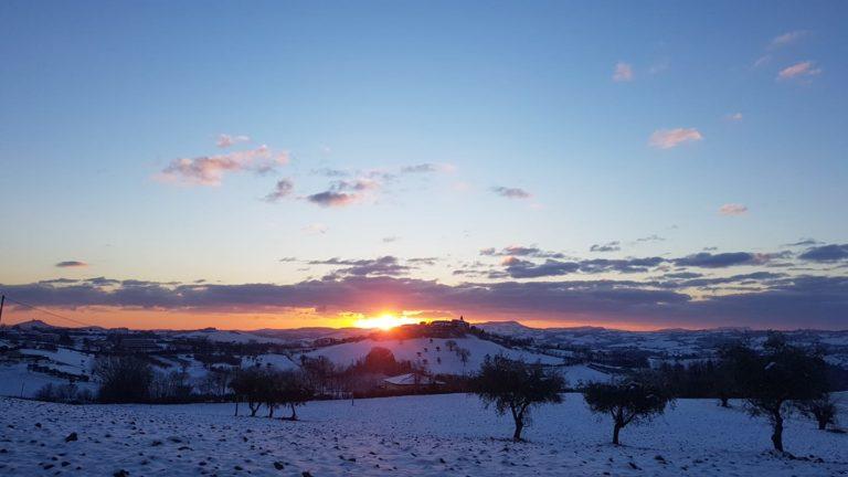 Nevicata del 13 febbraio a Magliano (foto di Marco Peschi)